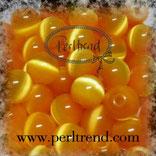 Katzenaugen-Perlen Gelborange