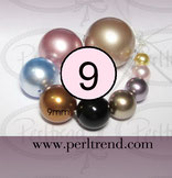 Crystal Perlen Rund 9mm Swarovski Crystal Pearls