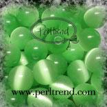 Katzenaugen-Perlen Pastellgrün