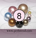 Crystal Perlen Rund 8mm Swarovski Crystal Pearls