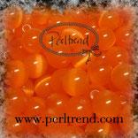 Katzenaugen-Perlen Orange