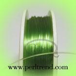 Perlonfaden grün