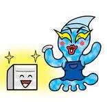 強アルカリ電解水アルファウォーターのキャラクター-アルファヲー太