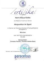 """Zusatzausbildung """"Akupunktur im Sport"""""""