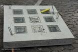 BG 1919/8 CIRCLES  Nederland België Glazen blokken pavers straatstenen betonnen vloertegels  19x19x8 190x190