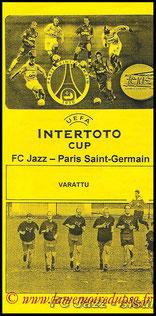 Programme  Jazz Pori-PSG  2001-02
