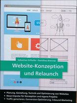 Buchcover - Website-Konzeption und Relaunch