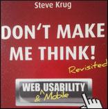 Buchcover von Don't make me think von Steve Krug