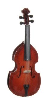 kontrabass aus Holz als Musikgirlande