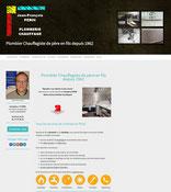 Site perin-plombier.fr  crée avec e-cime.fr creation de site internet