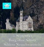 bsonders BAYERISCH Artikel - Burg ohne Schutz, Schloss Neuschwanstein