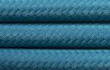 Textilkabel 2x0,75 Petrol
