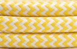 Textilkabel 2x0,75 Gelb weiss