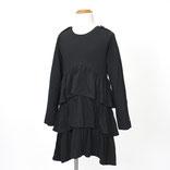 ブラック長袖ワンピース