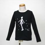 バレリーナプリント長袖Tシャツ
