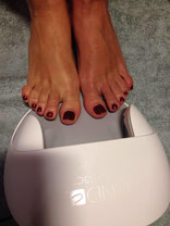 cnd shellac feet pedicure masquarate