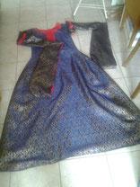 Hochzeitskleid - Bliaut- aus Orginalstoff 12. Jahrhundert