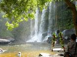 Waterfall,  Phnom Kulen, Siem Reap, Cambodia