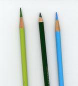 色鉛筆の削り方 〇 × 〇(右から)