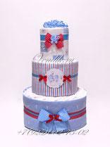 Подарок из памперсов и пелёнок для малыша . Красивый тортик из памперсов.