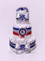 """Стильный торт из памперсов в морской тематике """"Капитану"""""""