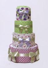 Торт из памперсов и пелёнок универсальный-подарок для новорожденного ребёнка