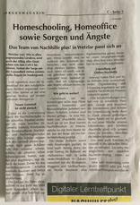 Nachhilfe plus! in der Zeitung, WNZ, VRM, Corona und Schule,