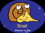 "Image de JoJo l'escargot qui regarde le lien : ""JoJo l'escargot m'apprend l'anglais."""