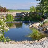 Teichbau Teich mit Oase Filtersystem
