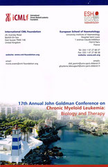 icmlf international cml foundation estoril portugal esh european society hemalology lmc france leucemie myeloide chroniqueleukemia myeloid chronical