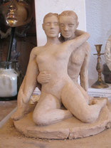 new sculptor, clay sculptures women, couples and female nudes.Click on this picture to choose your language