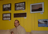 David Brandenberger at the Exhibition in the Youth Hostel in Klosters.