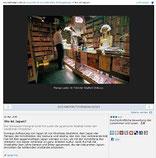 Screenshot der Webseite mit der Fotogalerie