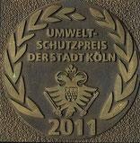 Plakett aus Bronze für unser Engagement im Klimaschutz