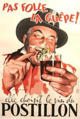 Publicité pour le vin du Postillon