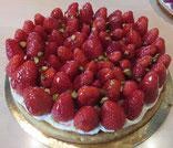 recette tarte aux fraises sur fond d'amande