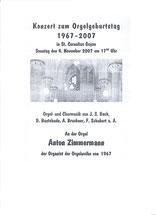 Konzert zum Orgeljubiläum St. Cornelius, Anton Zimmermann, Pulheim/Geyen