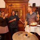 Geburtstagsfeier mit Hans Holzinger, Christian Felber u.a.m.