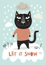 Let it snow - Wettbewerbsbeitrag Flow Magazin Tina Schulte Illustration