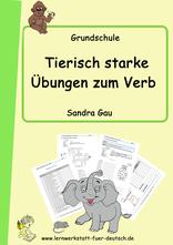 Wortstamm, Wortarten üben, Grundschule Verben, Übungen zum Konjugieren, Zeitformen lernen