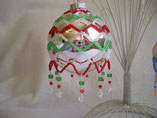 Hand Stitched Beaded Crystal Large Net Design Ornament Cover