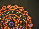 Hand Stitched Black, Orange, Purple, and Green Halloween Harlequin Beaded Doily