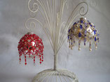 Hand Stitched Beaded Crystal Drop Design Ornament Cover