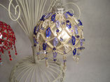 Hand Stitched Pearl and Crystal Drop Design Ornament Cover