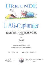 AG-Cup 2009 - 1. Turnier am 15. März 2009 beim Verein Österreichischer Schnauzer-Pinscher-Spezialclub in Wien