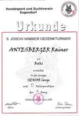 8. Joschi-Wimmer-Gedenkturnier 2010 am 19. Juni 2010 beim Hundesport und Zuchtverein in Eugendorf