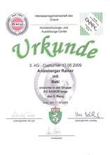 AG-Cup 2009 - 3. Turnier am 17. Mai 2009 beim Hundeschulungs- und Ausbildungs Center in Graz