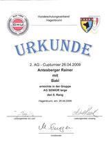 AG-Cup 2009 - 2. Turnier am 26. Apr. 2009 beim Hundeschulungsverband Hagenbrunn in Wien