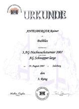 3. Agilitynachwuchsserie am 19. Aug. 2007 beim Hundesport Club in Salzburg