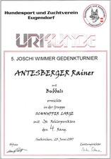 5. Joschi-WImmer-Gedenk Agilityturnier am 23. Juni 2007 beim Hundesport und Zuchtverein in Eugendorf